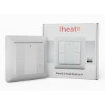 Heatit Z-Push 4x przycisk na ścianę biały Z-wave