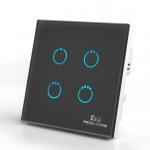 Inteligentny włącznik z panelem dotykowym Mco Home MH-S314 czarny