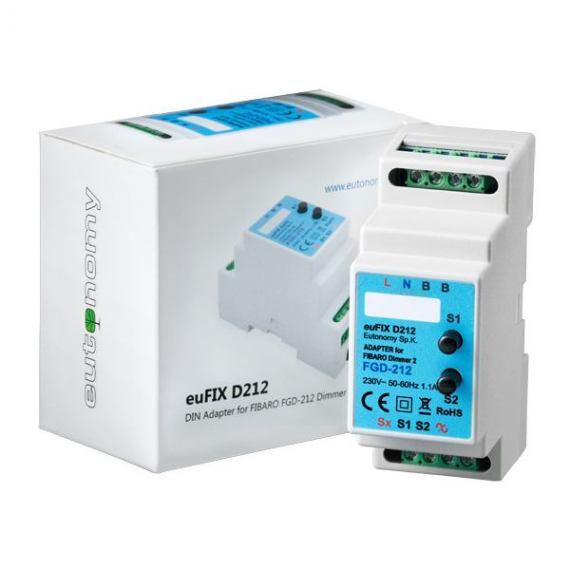 Adapter DIN euFIX D212 do modułu Fibaro FGD-212