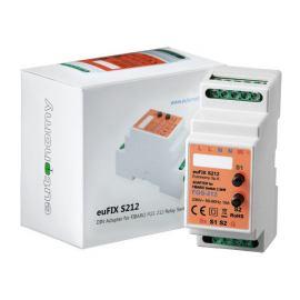 Adapter DIN z przyciskami euFIX S212 do modułu Fibaro FGS-212
