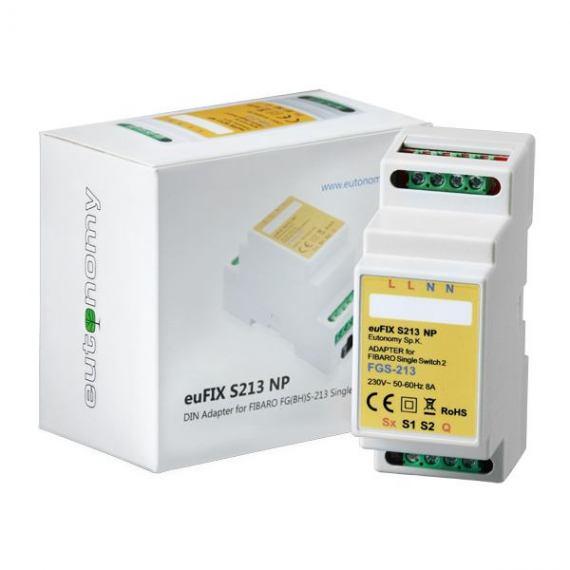 Adapter DIN euFIX S213NP(bez przycisków) do Fibaro