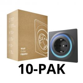 FIBARO Walli Outlet type F. FGWOF-011. Antracyt (10PACK)