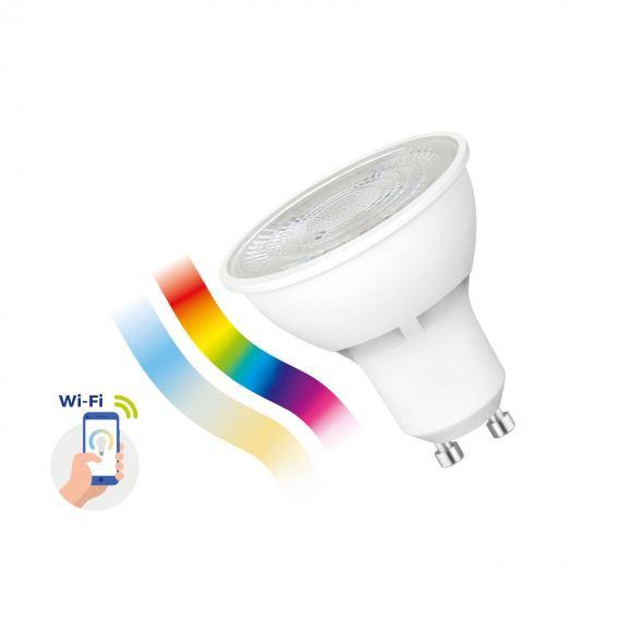 Inteligentna żarówka LED GU10 5W 230V RGBW + CCT + DIM Wi-Fi Spectrum SMART