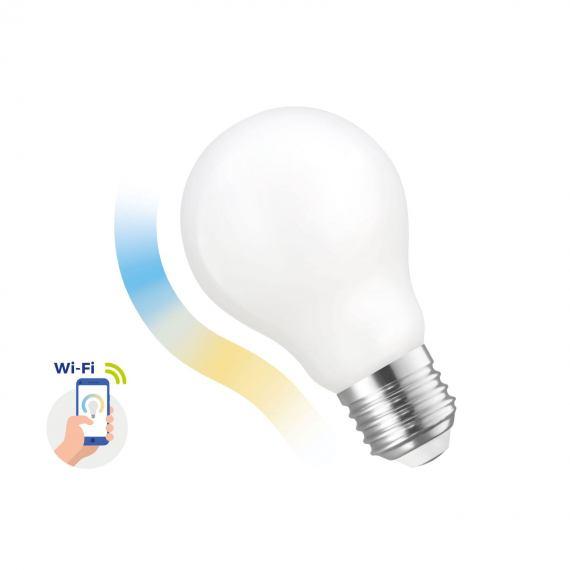 LED GLS 5W COG 230V Inteligentna żarówka CCT+DIMM MILKY Wi-Fi Spectrum SMART