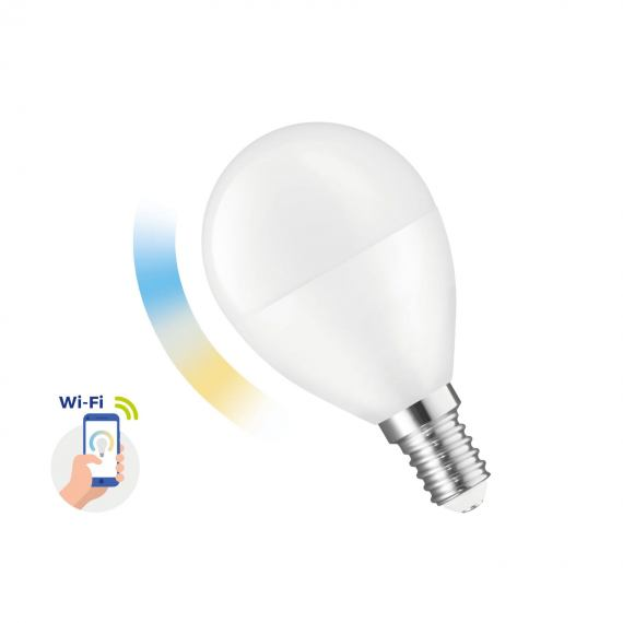 Inteligentna żarówka LED KULKA 5W E-14 230V CCT+DIMM Wi-Fi Spectrum SMART