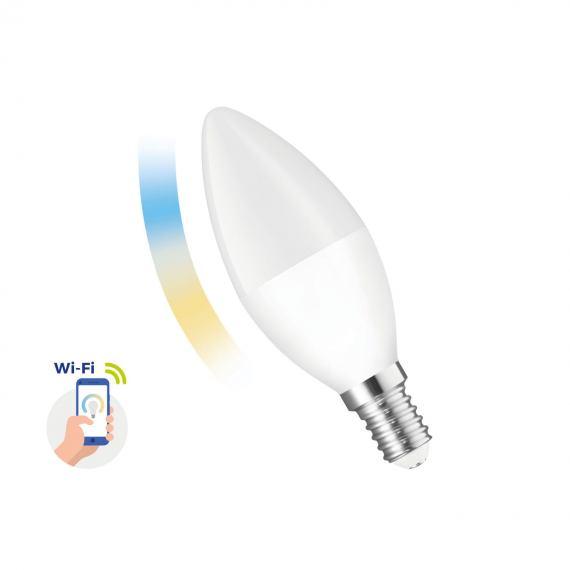 Inteligentna żarówka LED ŚWIECOWA 5W E-14 230V CCT+DIM Wi-Fi Spectrum SMART