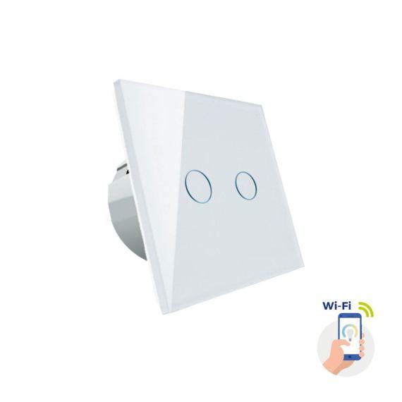 Inteligentny włącznik światła Spectrum SMART dwustrefowy biały