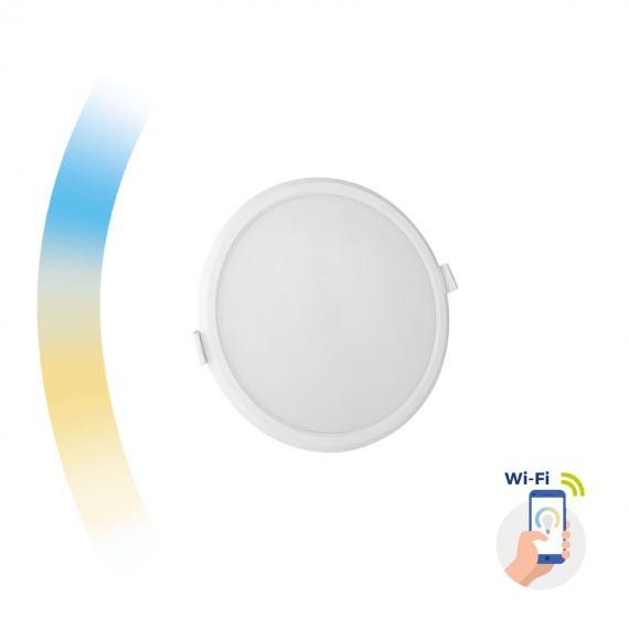Inteligentna oprawa Algine 12W sufitowa podtynkowa okrągła LED Spectrum SMART Wi-Fi CCT DIMM