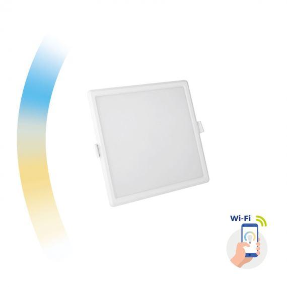 Inteligentna oprawa Algine 12W sufitowa podtynkowa kwadratowa LED Spectrum SMART Wi-Fi CCT DIMM