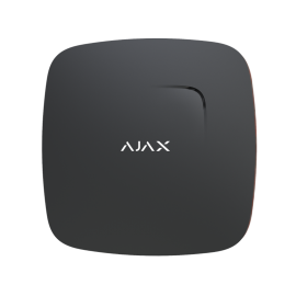 Bezprzewodowy czujnik dymu i ciepła z wbudowanym sygnalizatorem Ajax FireProtect Plus Black
