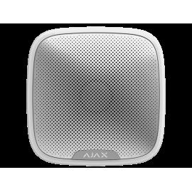 Bezprzewodowy optyczno-akustyczny sygnalizator Ajax StreetSiren White