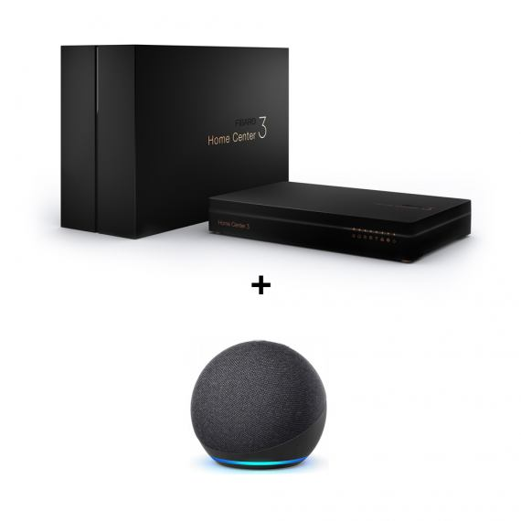 Zestaw Fibaro Home Center 3 + Amazon Echo Dot 4 Black GRATIS