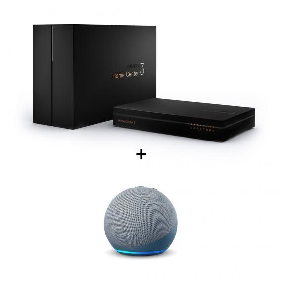 Zestaw Fibaro Home Center 3 + Amazon Echo Dot 4 Grey GRATIS
